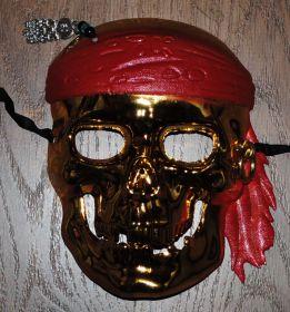 """Маска """"Пиратский череп золотой"""""""