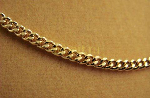 Описание: Другие фото Стильная позолоченная мужская цепочка, 60 см, 3 мм