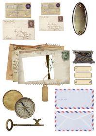 """Модификация.  Декупажные карты  """"Base of Art """".  Хороший набор письменных принадлежностей и почтовых конвертов."""