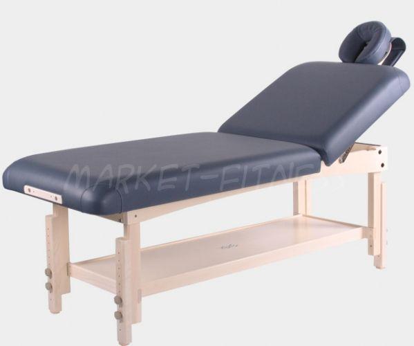Стационарный массажный стол VISION ESSENSE LIFTBACK. Модификация: Базовая, Цвет: синий-агат (Стационарные столы)