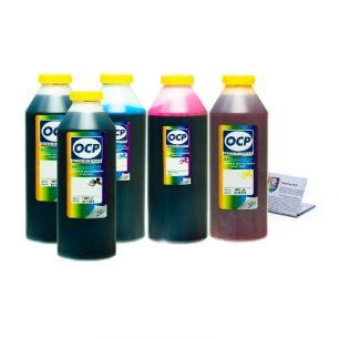 Чернила OCP для принтера HP 7510, С5383, c310 (BKP249, BK143, C143, M143, Y143), картриджи HP 178, комплект 1000 гр. x 5