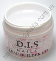 Гель DIS 1-фазный BUILDER CLEAR (прозрачный), 30 грамм