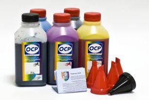 Чернила OCP для принтера и МФУ Canon iP4200 (BK35, BK797, C133, M122, Y122) Safe Set, комплект 500 гр. x 5