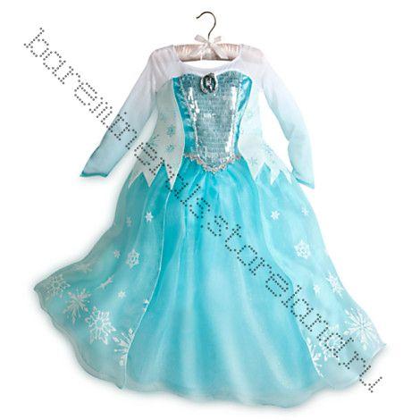 Костюм ЛЮКС Эльзы - Elsa Costume Frozen на рост  128, 140 см