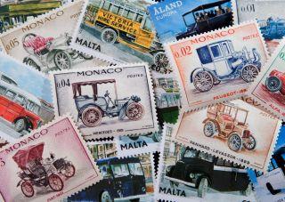 Postcard Stamps. Transport