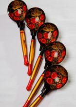 Postcard Spoons. Khokhloma