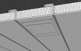 панели подволока с лючком