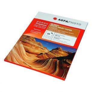 Фотобумага Agfa - А4 глянцевая, плотность 210 г/кв.м, 20 листов