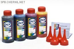 Чернила OCP для принтера и МФУ Canon MB5040, MB5140, MB5340, MB5440, iB4040, iB4140 (BKP230, CP230, MP230, YP230), картриджи PGI-2400, комплект 100гр. x 4